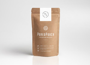 Free Paper Pouch Packaging Mockup