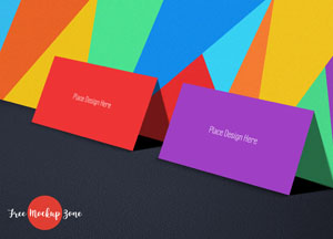 Free Tutti Frutti Business Card Mockup