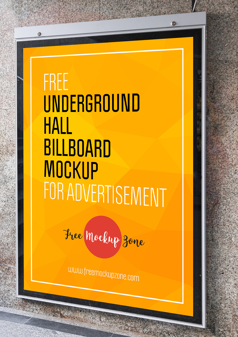 Underground Hall Billboard Mockup For Advertisement-600