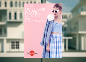Free Outdoor Poster Mockup For Advertisement