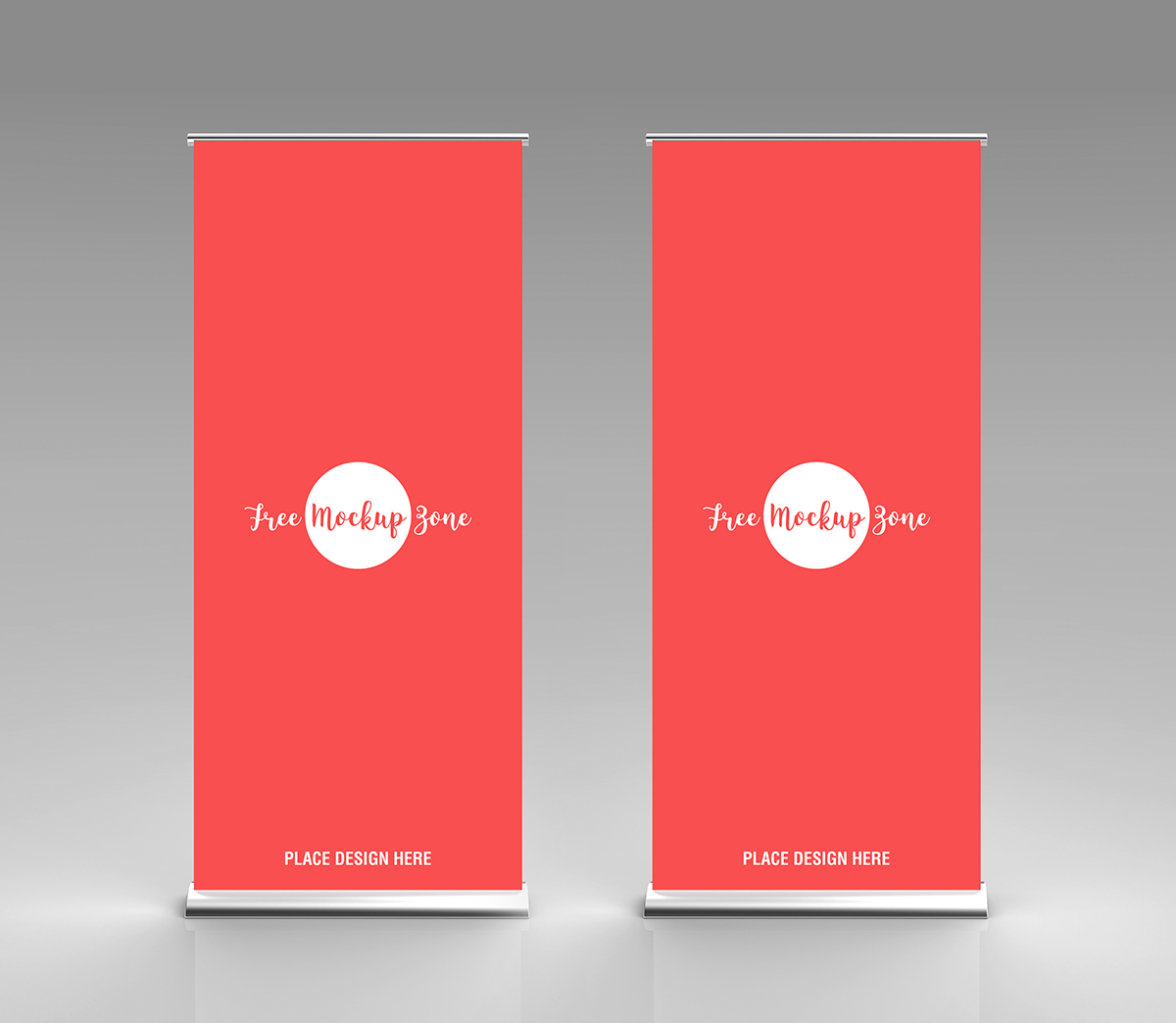 Free Rollup Stand - Standy Mockup For Advertisement