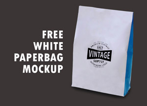 Free White Paperbag Packaging Mockup