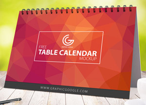 Free Awesome Table Calendar Mock-up