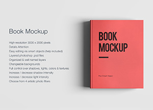 Free Decent Book Mock-up PSD