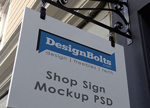 Free Outdoor Store Sign PSD Mock-up For Advertisement