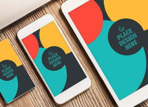 Free Elite Business Card, Smart Phone and Tablet Mock-up PSD