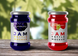 Free Jam Bottle Mock-up PSD For Graphic Artists