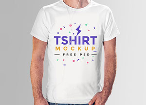 Free T Shirt Mock-up PSD For Men