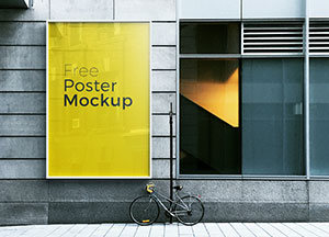 6 Free Poster & Billboard Mock-up For Advertisement 2017
