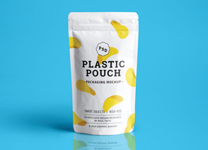 Free Plastic Pouch Packaging Mock-up PSD