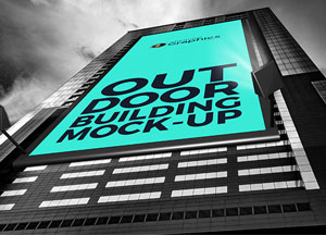 Free Outdoor Building Billboard Mock-up For Advertisement