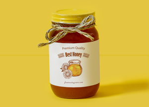 Free Honey Bottle Label Mock-up Psd For Packaging