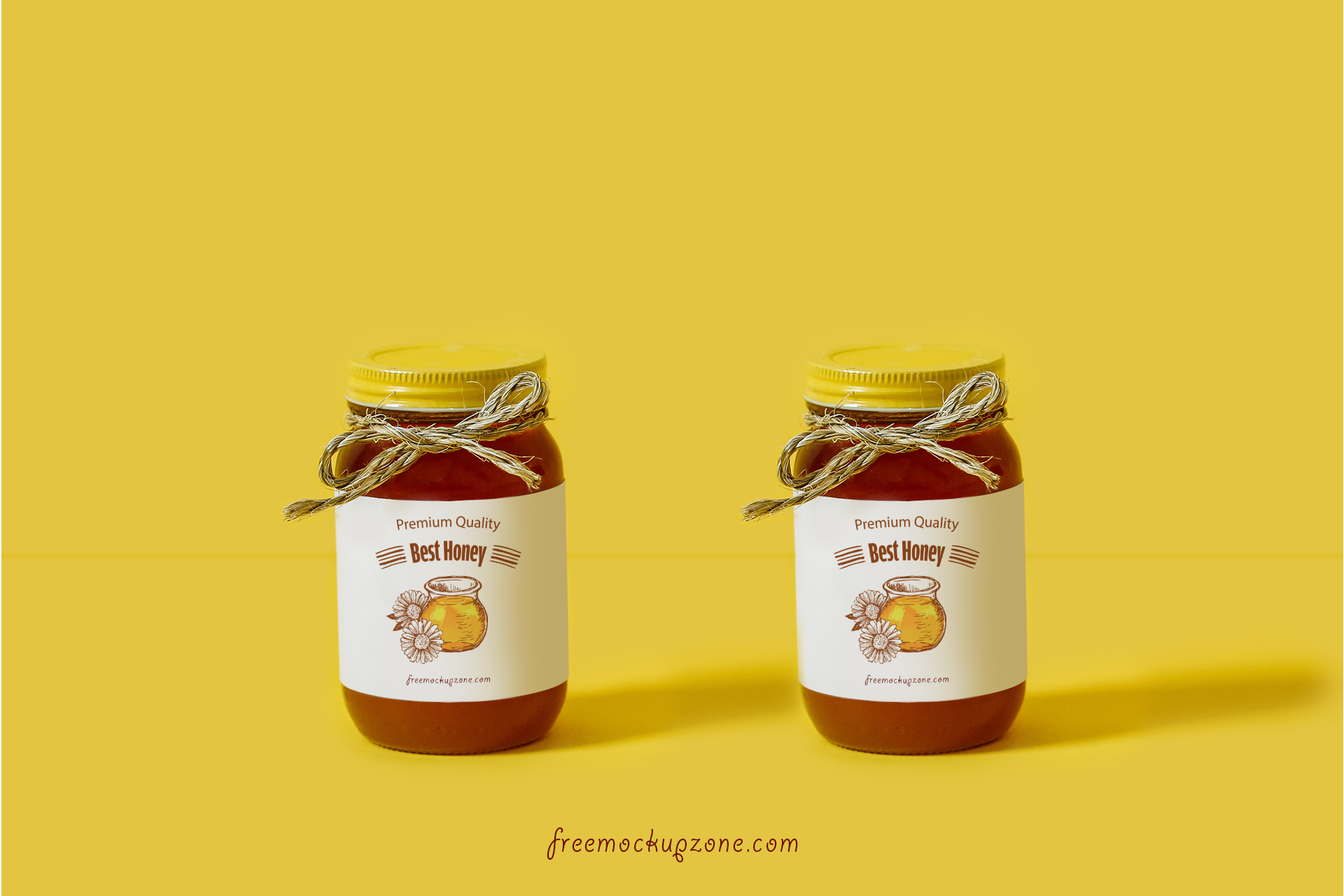 Free-Honey-Bottle-Label-Mock-up-Psd-For-Packaging