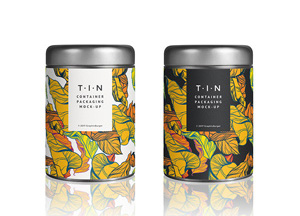 Free Tin Container Packaging MockUp Psd