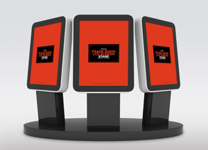 Free Trade Show Booth LCD Screen Stands Mock-up Psd