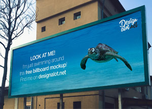 Free Wide Outdoor Billboard Mockup Psd For Advertisement