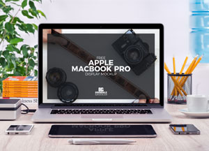 Free Apple MacBook Pro Mock-up Psd