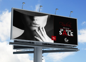 Free Outdoor Advertisement Hoarding – Billboard MockUp