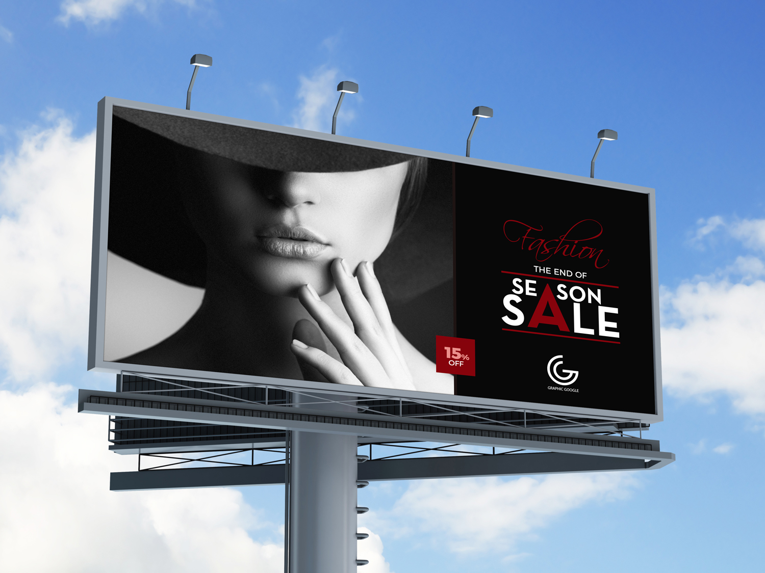 Free Outdoor Advertisement Hoarding Billboard Mock Up