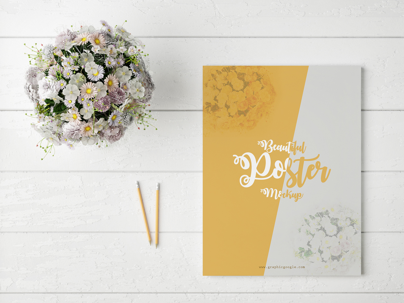 Free-Beautiful-Poster-MockUp-With-Flowers