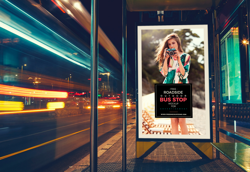 Free-Roadside-Outdoor-Bus-Stop-Billboard-MockUp-For-Advertisement-1