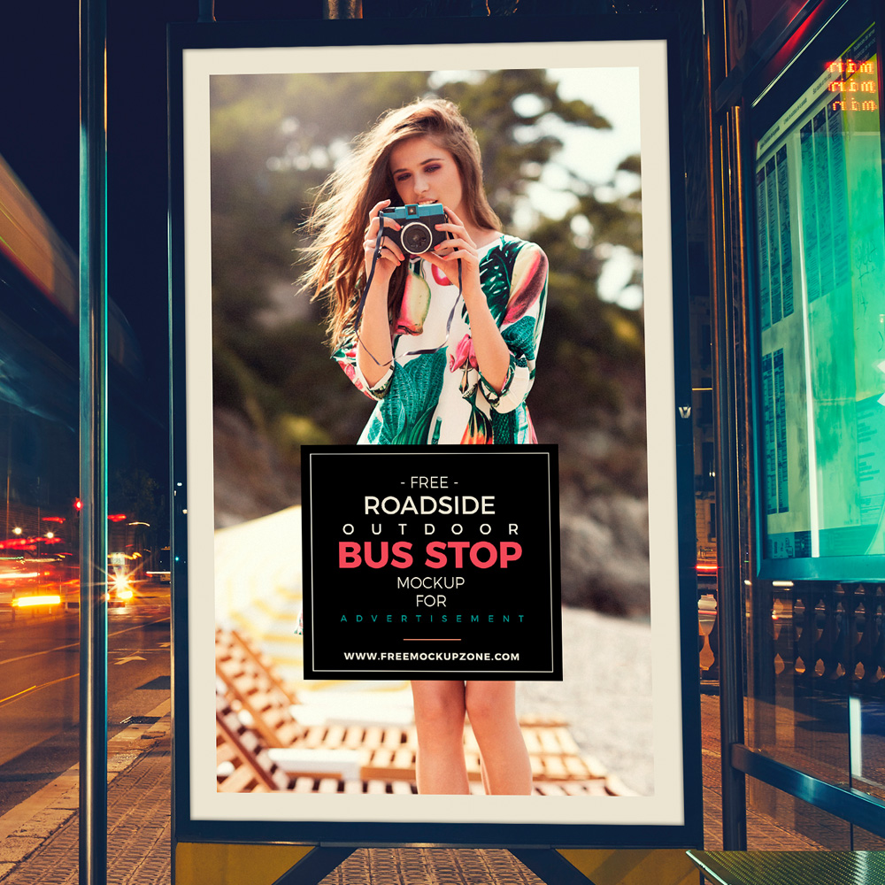 Free-Roadside-Outdoor-Bus-Stop-Billboard-MockUp-For-Advertisement-2