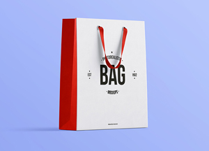 Free Photorealistic Shopping Bag MockUp PSD