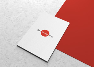Free Business Card Mockup on Marbal Background