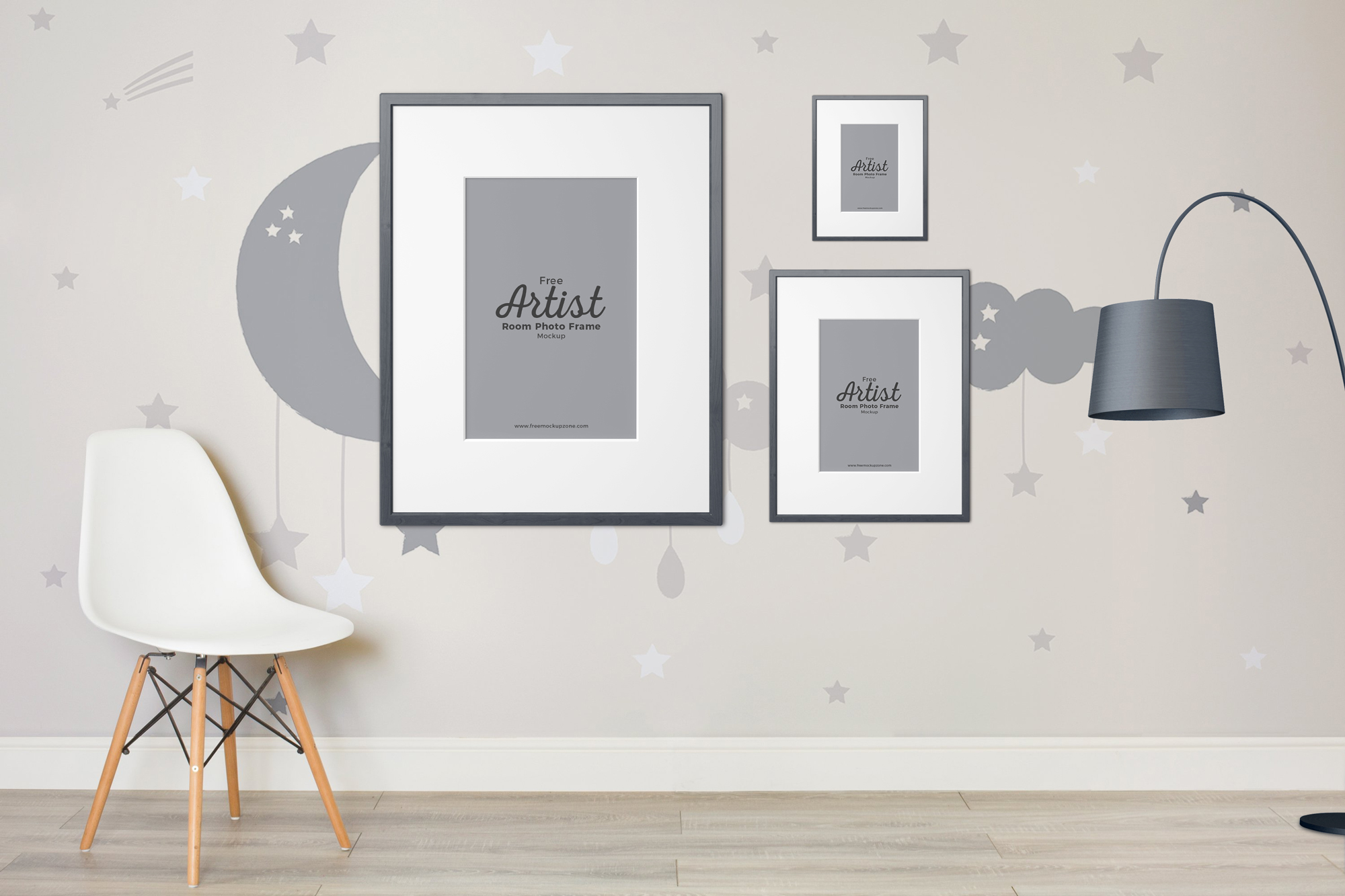 Free Artist Room Frame Mockup To Showcase Your Artworks