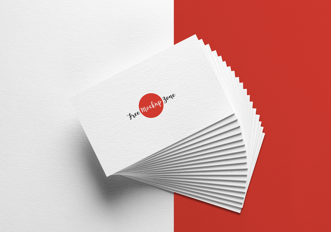 Free-Elegant-Business-Card-MockUp-on-Texture-Background