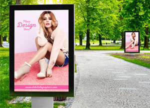 Free Fashion Advertisement Billboard Mockup