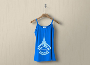 Free Hanging Women Tank Top MockUp PSD