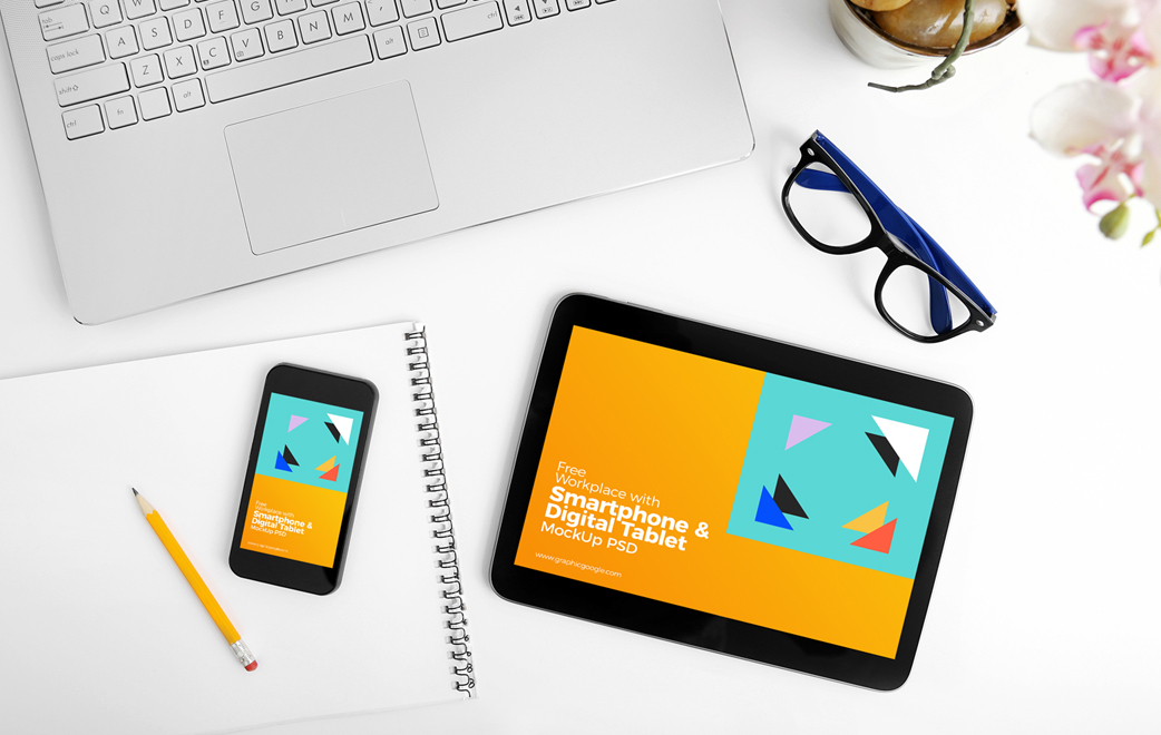 Free-Workplace-Smartphone-&-Tablet-Mockup