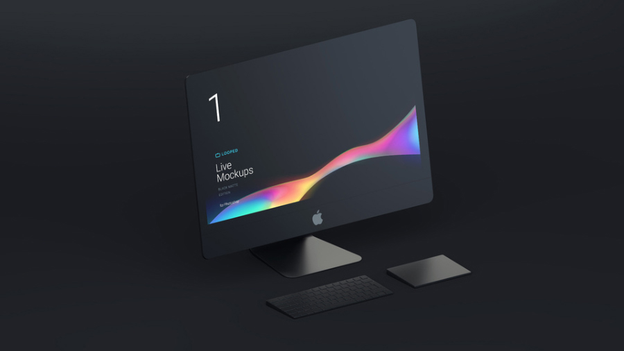 Free Black Matte Imac Ipad Macbook Apple Watch Iphone Mockups Collection