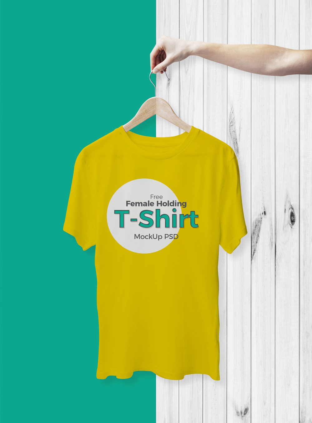 Free-Cool-Female-Holding-T-Shirt-Mockup-For-Branding