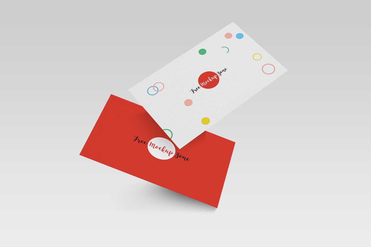 Free falling business card mockup psd template reheart