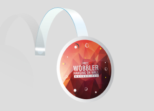 Free Wobbler Mockup For Branding & Advertisement