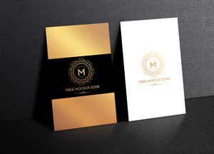 Free Standing Display Business Card Mockup