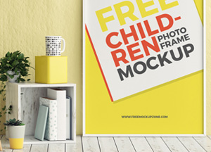 Free Children Room Photo Frame Mockup
