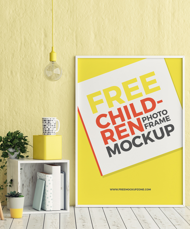Free-Children-Room-Photo-Frame-Mockup