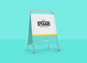 Free Stand Mockup For Advertisement
