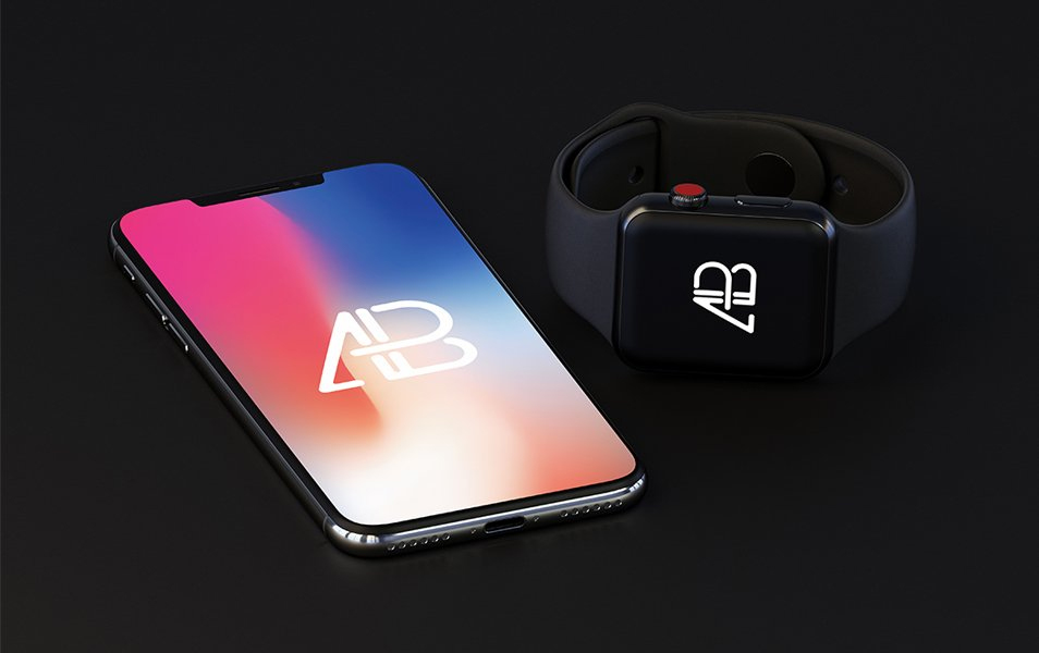 iPhone-X-and-Apple-Watch-Series-3-Mockup