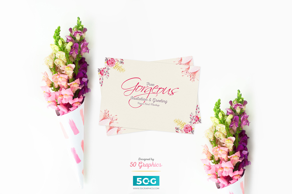 Free-Gorgeous-Greeting-Paper-Card-Mockup