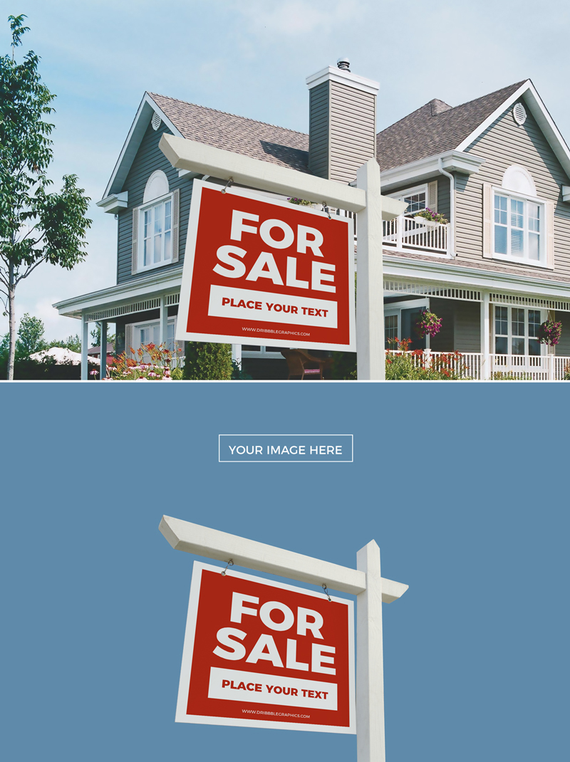 Free-Real-Estate-Outdoor-Signboard-Mockup