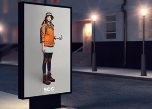 Free Outside Street Billboard Mockup For Advertisement
