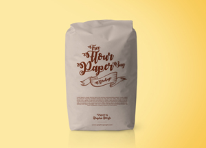 Free Flour Packaging Paper Bag Psd Mockup