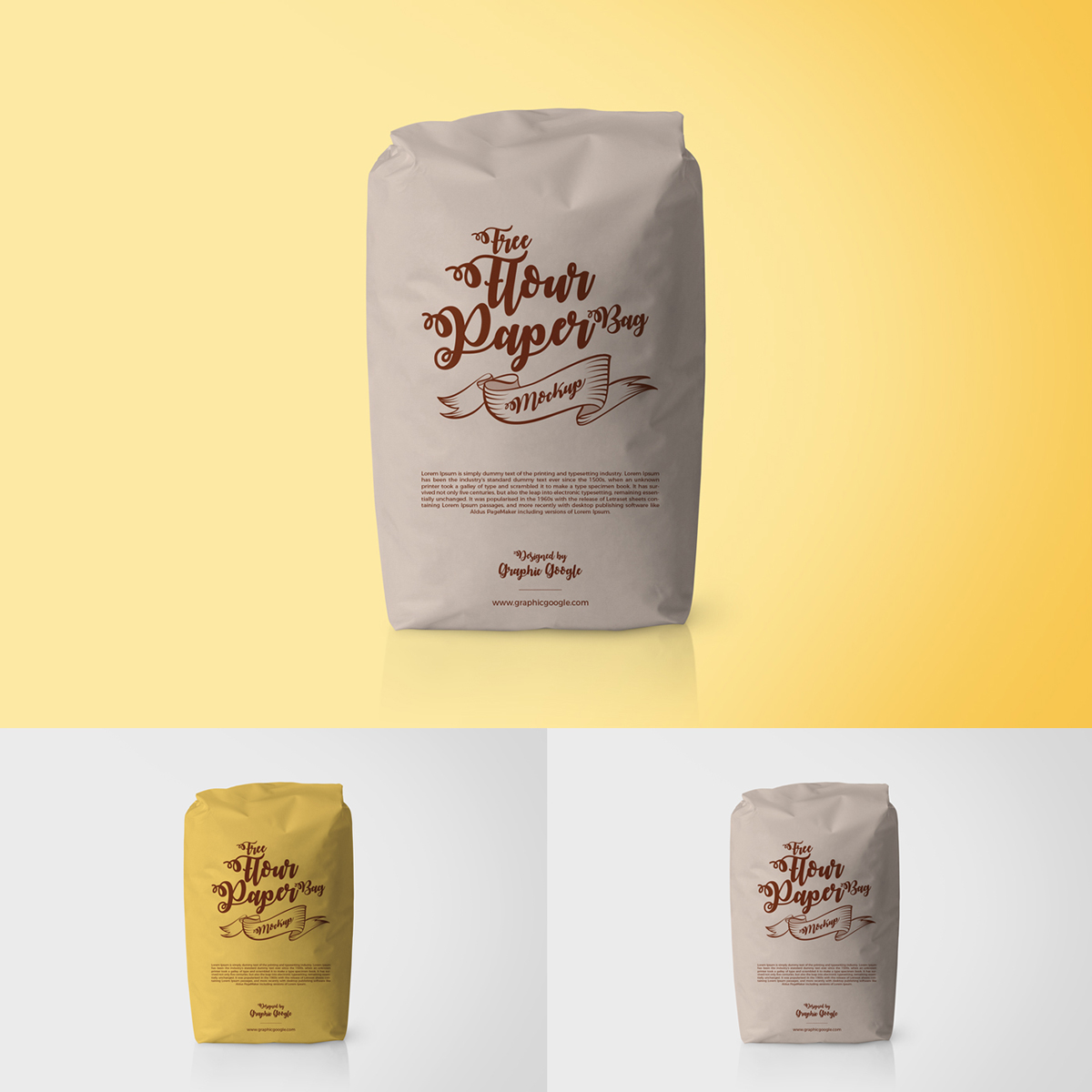 Free Flour Packaging Paper Bag Psd MockupFree Mockup Zone