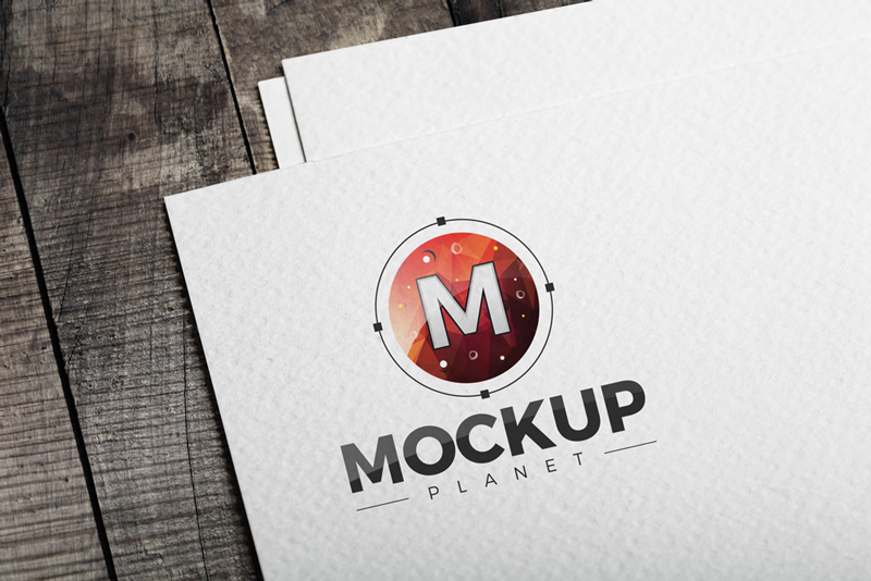 Free-Logo-on-Texture-Paper-PSD-Mockup