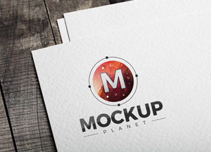 Free Logo on Texture Paper PSD Mockup