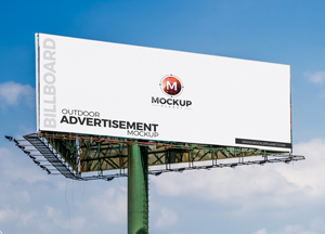 Free Outdoor Billboard PSD Mockup For Advertisement